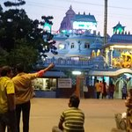 ISKCON Rajahmundry temple in the evening