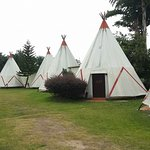 Teepee tent (attached toilet)