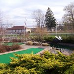 A view down hole 17 of Big Don's signature mini-golf course