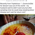 Great creme brûlée...thanks Facebook for the reminder. Wish I hadn't lost all my old reviews