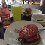 Végéburgers + limonade