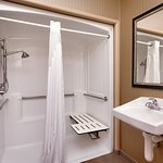 King Guestroom Roll In Shower