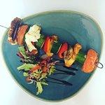 Greek Veg Halloumi Kebab