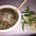 Pho and side salad