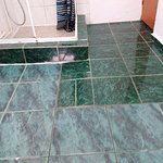 Bathroom tiles and shower