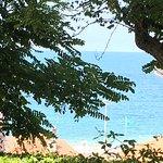 Vue de notre emplacement : la plage