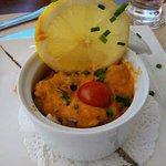 L'entrée : cassolette de fruits de mer (délicieux)