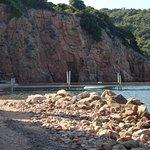 ponton de la plage privée