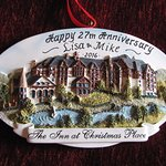 Thank You Inn at Christmas Place for our ornament as we celebrated 27 years of marriage