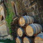 Barrels outside Chteau Montelena Winery