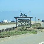 Affiche du zoo à partir de la route sur la côte