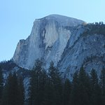 A view of Half Dome infront of the cabin