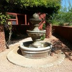 The water fountain right outside of our Villa - so pretty in the morning sun!