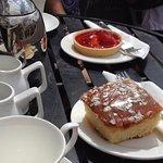 Tea and cake - outdoors