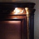 This is the light built into a 19th century headboard!
