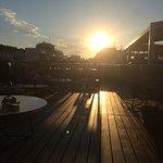 Evening sunshine roof top terrace, bar & restaurant