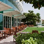 Guest patio and Zaytoun restaurant terrace