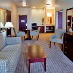 Relax in the comfort of living room in two room Suite