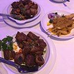 Barbecue Spare Ribs in Spicy Salt & Chilli, Chicken Satay Sticks