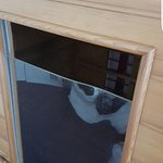 Pictures of our stay in August 2015.  The broken plastic on the sauna, the mold on the shower cu