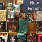 Display of new adult fiction.