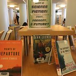 Display of new adult science fiction.