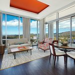 King Suite Living Area with boasts expansive mountain views
