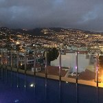 Evening view from the 360° rooftop bar.