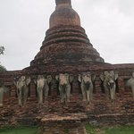 CHEDI SURROUNDED BY ELEPHANTS