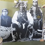 Ojbwa Chief Shoppenagons (the needles) and his wife and daughter