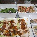 part of the massive salad bar!