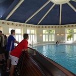 boat at the indoor pool
