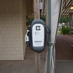 The electric car charger....