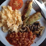 Delicious full vegetarian breakfast