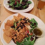 Taco salad and Dave's special salad