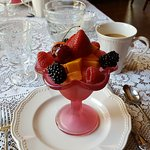 delicious fruit cup at breakfast
