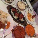 Lamb Vindaloo, butter chicken and tandoori chicken, soooo good and fresh!!! Great date night!