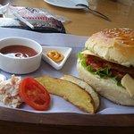 Best chicken burger in leh!