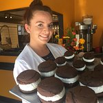 Did you meet Celena?  She's our Baker in Orleans. Gotta try her Whoopie Pies!