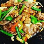 Cashew beef stirfry