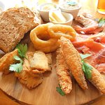 Assorted fish platter- excellent meal!