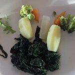 Assiette de légumes qui n'en a que le nom : légumes pas très variés et en faible quantité
