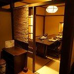 朝食のビュッフェの個室