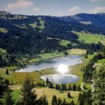 Lauenensee consisting of two small lakes