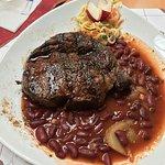 Entrecote Steak 300 g mit Chili Beans