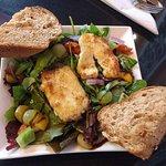 Greek Salad with Halloumi