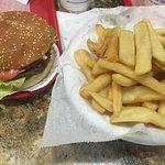 Cheeseburger platter.
