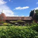 View from the grounds to the rear of the Oast