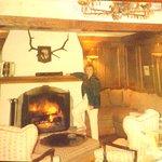 Cozy fireplace area