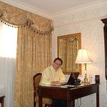 Here I am working on business in my room